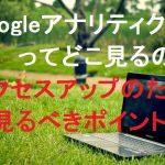 Googleアナリティクスで確認する場所は?使いこなしてアクセスアップさせよう!