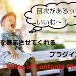 目次が無いサイトはヤバイ!Table of Contents Plusで超簡単に目次を表示させよう!